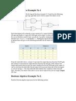 Boolean Algebra Example