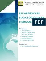 TO - Les approches sociologiques de l'organisation