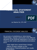 Lecture 1.1  Financial Statement Analysis