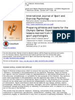 Arnold, R., & Sarkar, M. (2014). Preparing athletes and teams for the Olympic Games - Experiences and lessons learned from the world's best sport psychologists. International Journal of Sport and Exercise Psychology