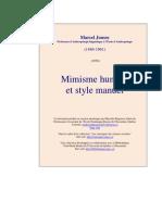 Mimisme Hum Et Style Manuel