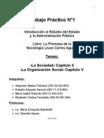 TP-1-Capitulo II La Sociedad y Capitulo V La org. Social de juan C. Agulla