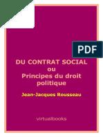 Jean-Jacques Rousseau - Du Contrat Social Ou Principes Du Droit Politique