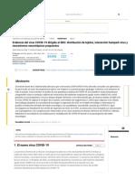 Evidencia del virus COVID-19 dirigido al SNC_ distribución de tejidos, interacción huésped-virus y mecanismos neurotrópicos Neurociencia Química