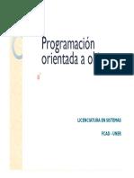 Programación Orientada a Objetos Clase 12