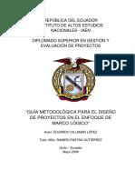 GUÍA METODOLÓGICA PARA EL DISEÑO DE PROYECTOS EN EL ENFOQUE DE MARCO LÓGICO - TESIS INVESTIGACION PROYECTOS.pdf