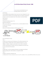 CCNA Security Lab 18 - Cisco IOS Zone-Based Policy Firewall - SDM