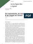 De l'espoir en l'avenir - De l'anarchisme, du marxisme &... - Noam Chomsky - Editions Agone