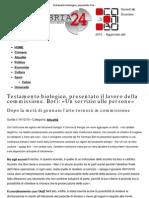 Testamento biologico, presentato il lavoro della commissione. Bori_ «Un servizio alle persone» _ Umbria24