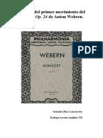 Trabajo analítico Webern Op. 24