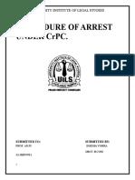 CrPC.procedure of arrest..doc