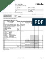 Metrohm - 702 Protocol of Measuring Amplifier Checkl
