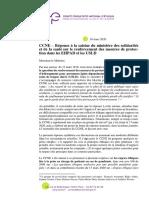 CCNE- Réponse à la saisine du 26.03.20 Renforcement des mesures de protection en EHPAD et USLD