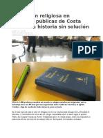 Educación religiosa en escuelas públicas de Costa Rica