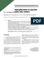 Manejo Da Hiperglicemia No Paciente Hospitalizada Não Crítico