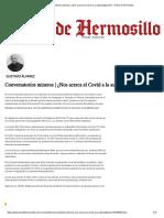 Conversatorios Mineros _ ¿Nos Acerca El Covid a La Automatización_ - El Sol de Hermosillo Gustavo Alvarez