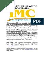 MANUAL DPTO. DE GUITARRA