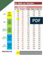 TARIFICATION ESPACE FORME PARTICULERS 2019-2020