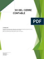PROCESO DE CIERRE CONTABLE