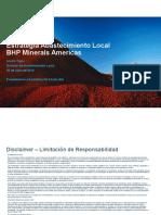 Estrategia Abastecimiento Local BHP Minerals Americas