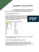 Lista desplegable en Excel 2010