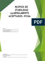 PRINCIPIOS DE CONTABILIDAD GENERALMENTE ACEPTADOS -PCGA