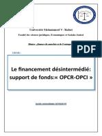 4-Rapport sur le financement désintermédié _ support de fonds OPCR, OPCI