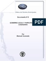 Gobierno local y participación ciudadana-Chile