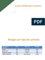 Estrategia en contratos EPCM proyectos mineros