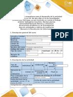 Guía de actividades y rúbrica de evaluación - Momento 3 - Recolección de Información