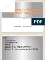 -4- Analyse du régime juridique du port Tanger Med. (texte de création du port, analyse critique)