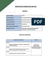 FORMATO DE PLANIFICACION EPT- 2019