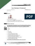 Tokyo Olympics Decision British English