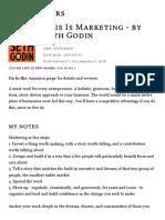 This Is Marketing - by Seth Godin _ Derek Sivers