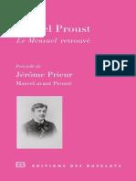 Mensuel retrouve & Marcel avant Proust - PROUST, Marcel & PRIEUR, Jerome.epub