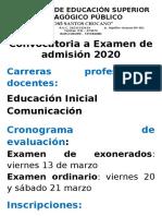 afiche ACADEMIA PRE UNIVERSITARIA y convocatoria encargaturas 2020