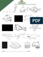 Encierra y colorea los animales marinos que aparecieron en el cuento.docx