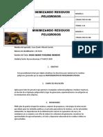 MINIMIZANDO RESIDUOS PELIGROSOS
