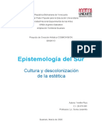 Epitemologia del sur ENSAYO