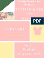 Bautizo Fernanda ?