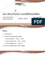 3- Les structures conditionnelles