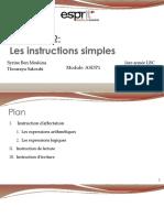 2- Les instructions simples