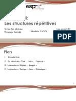 4- Les structures itératives
