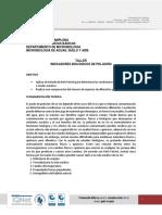 TALLER INDICADORES BIOLÓGICOS DE POLUCIÓN