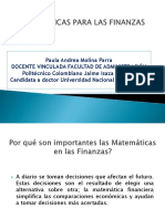 Conceptos teóricos de matemáticas para las finanzas