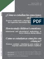 Como se estudian las emociones en los niños