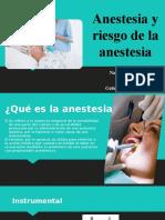 Anestesia y riesgo de la anestesia