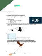 Tugas Latihan Penerapan Perbandingan Trigonmetri