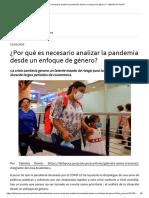 ¿Por qué es necesario analizar la pandemia desde un enfoque de género_ - IDEHPUCP PUCP