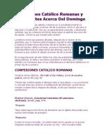 Confesiones Católico Romanas y Protestantes Acerca Del Domingo.docx